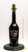 BAILEY'S IRISH CREAM Liquor Bottle TABLE LAMP Light Wood Base Bar Lounge Decor