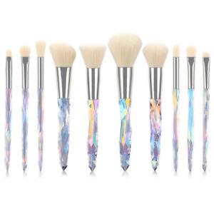 Prism 10pcs Kabuki Make up Brush Set Buffer Powder Contour Eyeshadow