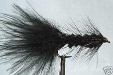 1 x Mouche Streamer Wooly Bugger Noir  H6/8/10/12 black fly tying mosca marabou