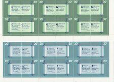 Stamps Nauru 1980 Christmas quotations pairs in set of 2 blocks of 12, Muh