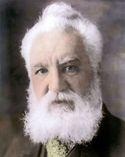 "ALEXANDER GRAHAM BELL TELEPHONE INVENTOR  8x10"" HAND COLOR TINTED PHOTOGRAPH"