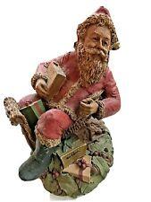 Tom Clark Santa Ii Christmas Gnome Retired - Signed Figurine 1983 Wicker Sleigh