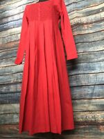 The Paragon Women's Red Smocked and Beaded Dress