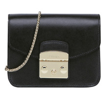 Woman Mini Bag Furla Metropolis Crossbody Black Leather Onyx 820676