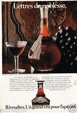 Publicité advertising 1980 Vin apéritif Rivesaltes