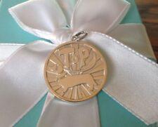 Tiffany & Co top dog Dachshund  coin disc charm pendant never worn nib