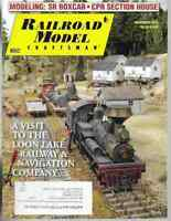 Railroad Model Craftsman Magazine November 2012 SR Boxcar, CPR Section House