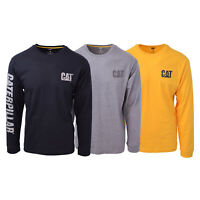 Caterpillar Men's Patterned Trademark Banner L/S T-Shirt S05
