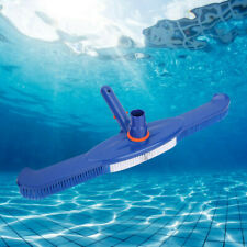 Pool Spa Brush / Vacuum Head Combo with Swivel Hose, Nylon Bristles