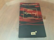 Montblanc Virginia Wolf Warranty Reply Card Warranty Booklet Documents
