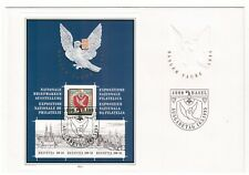 SWITZERLAND HELVETIA 1995 BASLER TAUBE STAMP EXHIB MINISHEET FIRST DAY COVER