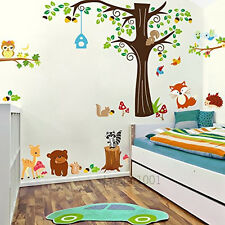 Combo Kids Wall Stickers Forest Animals Owl, Deer, Fox, Squirrel Peel & Stick