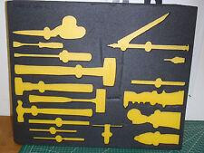 "Pre-Cut Custom Foam Organizers for Toolbox Drawers 28""x23"": Black & Yellow !80A!"