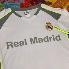 Real Madrid Soccer FC Jersey Shirt Adult L XL White Gray