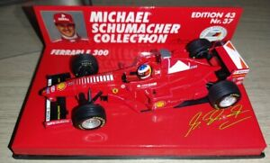 F1 1/43 FERRARI F300 SCHUMACHER 1998 MINICHAMPS MSC #37