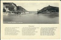 Ansichtskarte Porta Westfalica von Norden - Brücke - Weserlied - schwarz/weiß