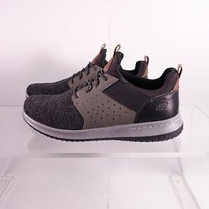 Size 13 WIDE Men's Skechers Delson-Camben Sneakers 65474/BKGY Black/Grey