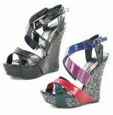 Wedge Multi-Coloured Synthetic Heels for Women