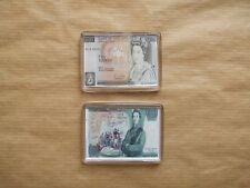 2 x banque d'Angleterre Réfrigérateur Aimants, £ 10 & £ 5 note.