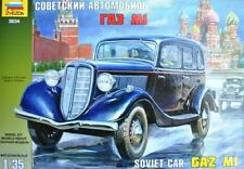 Zvezda 3634 GAZ M1 Soviet Staff Car 1/35 Scale Plastic Military Model Kit