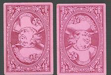 Playing  Cards 1 ANTIQUE SQUARE CORNER  PRIMROSES & FERNS  BLUE ON BLUE S39