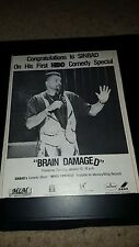 Sinbad Brain Damaged Rare HBO Promo Poster Ad Framed!