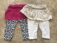 Garanimals Girls Skirt Leggings (6-9M)