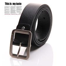 COOL Negro/Marrón Cuero De Imitación Cinturón Con Hebilla Cintura Correa Hombre