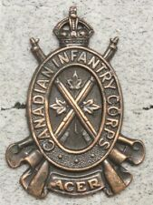 Canadian Army Badge: Canadian Infantry Corps - brown