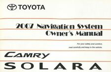 2007 Toyota Camry Solara Navigation System Owners Manual