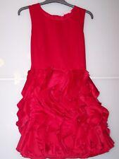 H&M Mädchen Kleid  mit Rüschenrock  Festkleid ***Gr.170  Rot Satinkleid
