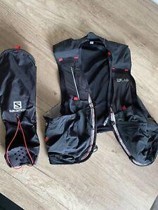 Salomon S/LAB Sense Ultra 8 Trailrunning Weste Größe L NEU + Halter für Stöcke
