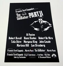 AL PACINO THE GODFATHER PART II SIGNED AUTOGRAPH MOVIE POSTER COA