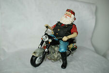 Possible Dreams Clothtiques Christmas Santa Claus on a Motorcycle 1999 with Tags