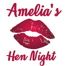 Hen Night Party Lips Colourful Style personalised Iron on transfer A5