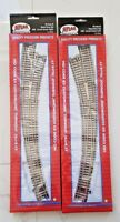 ATLAS 1/87 HO CODE 83 NICKEL SILVER RAIL MANUAL CURVED RIGHT & LEFT TURNOUTS F/S