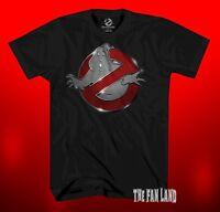 New Ghostbusters Movie 1984 Chrome Logo Men's Vintage Classic Retro T-Shirt