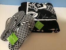 NWT Vera Bradley Beach Towel and Flip Flops  in MIDNIGHT PAISLEY Rare