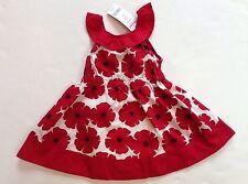 NWT Gymboree Poppy Love 18-24 Months Red Flower Print Ruffle Collar Dress