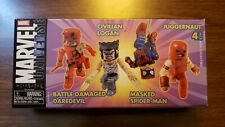 Marvel Universe Mini-Mates 4-Pack Daredevil, Logan, Spiderman and Juggernaut LOT