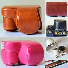 Fashion PU Leather Camera Case bag for Sony Alpha A6000 A6300 With 16-50mm Lens