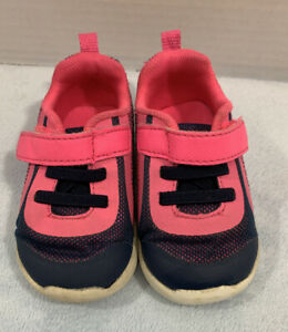 Garanimals Athletic Shoes Toddler Girls Size 4 Pink Blue Easy On Off