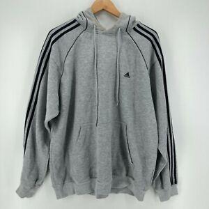 Adidas Hoodie Men's Size XL Gray Pullover Essential Logo Vintage 1990's