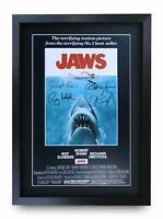 JAWS A3 Framed Movie Film Poster Signed Autograph Steven Spielberg Photo Gift