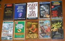 Lot of 10 Audiobooks on Cassettes Fiction~L'Amour, Dumas, Sheldon, Stoker, etc..