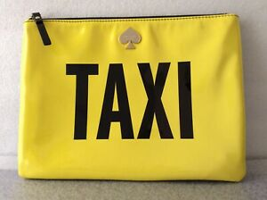 Kate Spade Gia New York Taxi Off Duty Yellow/Black Gia Clutch Pouch Pre-Owned