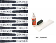 13 Avon Pro D2x Half Cord Standard White/Black Golf Grips-Mens/Men's-Grip Kit
