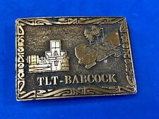 Brass Tone?  TLT-Babcock Electrical Equipment Promotional Company belt buckle