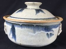 Stone Soldier Pottery Stoneware Blue White Abstract Glazed Large Yunnan Steamer