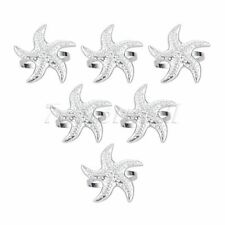 6Pcs Silver Starfish Napkin Rings Buckles Towel Holder Wedding Party Table Decor